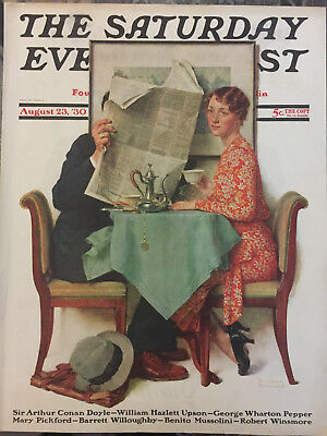 $ CDN50.35 • Buy Saturday Evening Post 8/23/30 COVER ONLY Norman Rockwell  The Breakfast Table