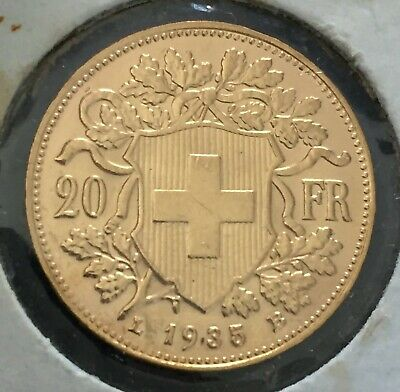 $354.61 • Buy 1935 L-B Swiss  Gold 20 France Coin UNC