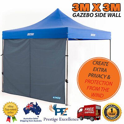 AU57 • Buy Gazebo Side Walls 3mx3m Waterproof Portable Fits Most Gazebos Outdoor Canopy NEW