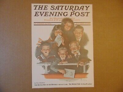 $ CDN8.80 • Buy Saturday Evening Post OCT 14,1916  (REPRINT) Norman Rockwell (COVER ONLY)