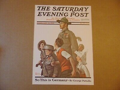 $ CDN10.14 • Buy Saturday Evening Post Feb 22,1919  (REPRINT) Norman Rockwell (COVER ONLY)
