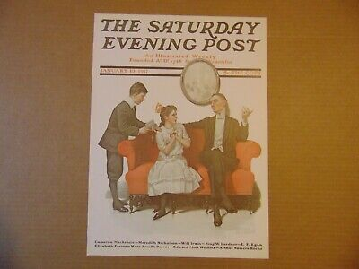 $ CDN8.94 • Buy Saturday Evening Post JAN 13,1917  (REPRINT) Norman Rockwell (COVER ONLY)