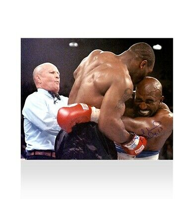 £255.99 • Buy Evander Holyfield Signed Photo - Tyson Bites Holyfield's Ear Autograph