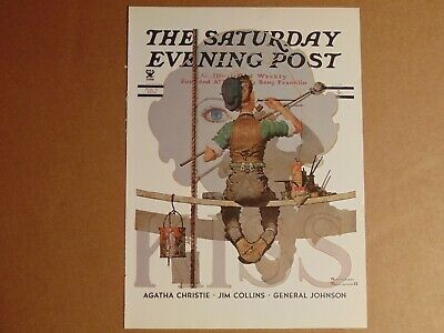 $ CDN10.14 • Buy Saturday Evening Post Feb 9,1935  (REPRINT) Norman Rockwell (COVER ONLY)