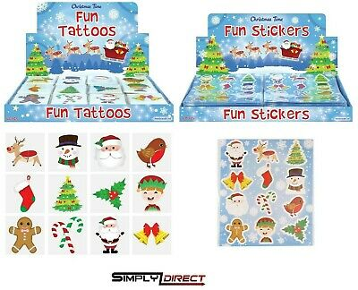 £0.99 • Buy CHILDRENS CHRISTMAS TATTOOS / Stickers Stocking Filler Party Bag Favours