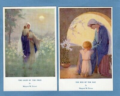 4 Margaret Tarrant  Lilies Of The Field End Of Day Angels Religious Pcs Ref U223 • 12.50£