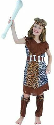 £9.89 • Buy Cave Girl Costume Stone Age Caveman Book Day Girls Fancy Dress Halloween Age 3-4