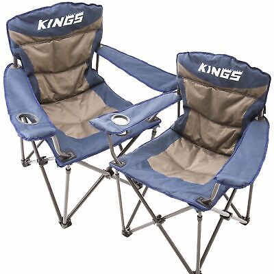 AU99.90 • Buy 2x Adventure Kings Throne Outdoor Camping Chair 300kg Thick Padding + Carry Bag