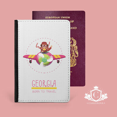 £9.95 • Buy Personalised Girls Daughter Passport Cover Case Travel Wallet Holder - CNP-132