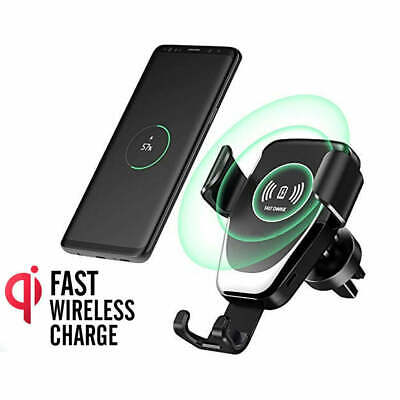 AU22.99 • Buy Qi Wireless Fast Charger Car Holder Gravity Mount For IPhone X XS Max S9+ Note 9