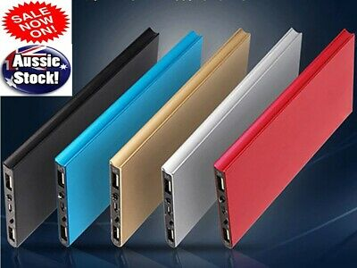AU20.85 • Buy 100000mAh Super Thin Dual USB Power Bank Battery Charger For Samsung IPhone Oppo