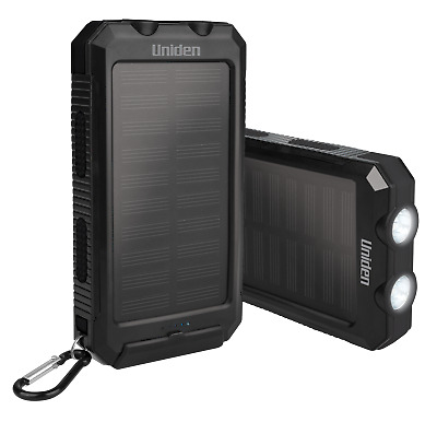 AU78.88 • Buy Uniden Upp80s Twin Pack 8000mah Portable Solar Power Bank + Charge On The Go