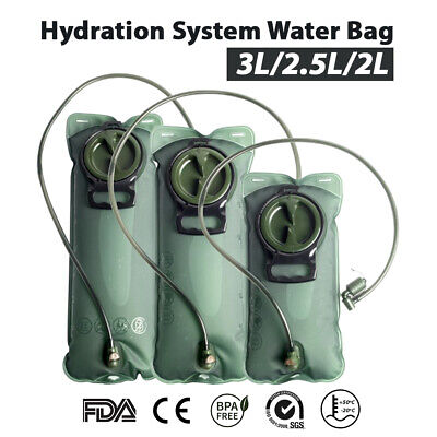 AU13.38 • Buy 2/2.5/3L TPU Water Bladder Bag Backpack Hydration System Camping Hiking