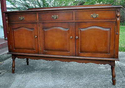 AU1000 • Buy Antique Rare Vintage Side Cabinet Sideboard Buffet Turned Art Deco Detail Solid
