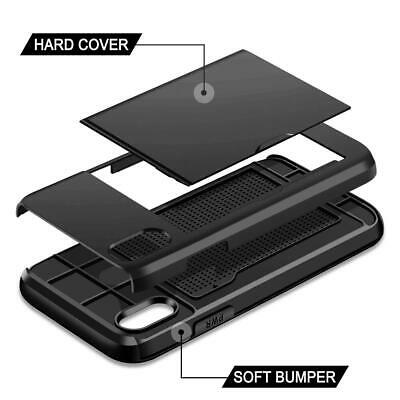 AU10.50 • Buy IPhone 11 / Pro Max XR IPhone X Xs Shockproof MC Wallet Card Holder Case Cover