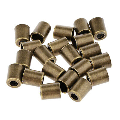 20pcs Zipper Pull Cord Ends Bell Stopper Cord Lock For Backpack Tent Bronze • 3.65£