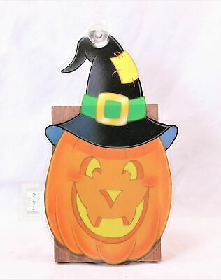 $ CDN9.41 • Buy Vintage Halloween  Jack-O-Lantern Hat  Suction Cup Window Decoration