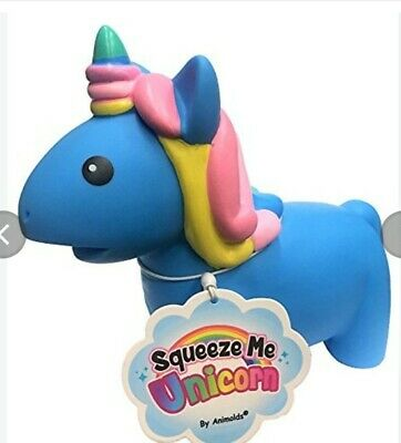 AU15 • Buy (Blue) Animolds Squeeze Me Unicorns The Squishy Fun Soft Toy