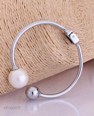 Chunky Pearl Ball Bracelet Knotted Bangle • 19.79£