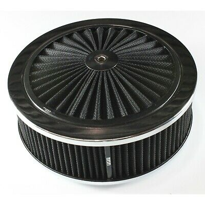 AU84.95 • Buy Extraflow Black Chrome Air Cleaner Filter 9  X 3  Assy Fit Holley 5-1/8  Base