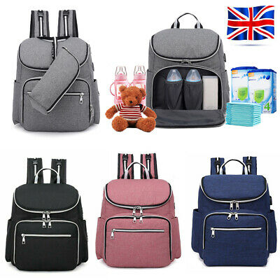 Baby Diaper Nappy Mummy Hospital Backpack Maternity Changing Bag Multifunctional • 12.05£