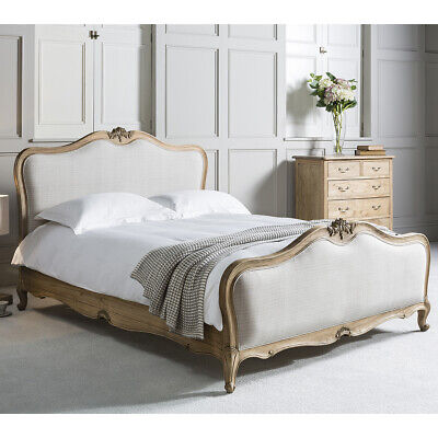 £1201.75 • Buy Frank Hudson Chic Weathered French Upholstered Bed