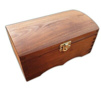 Wooden Jewellery Chest Lockable Latch In Brown Color • 14.99£