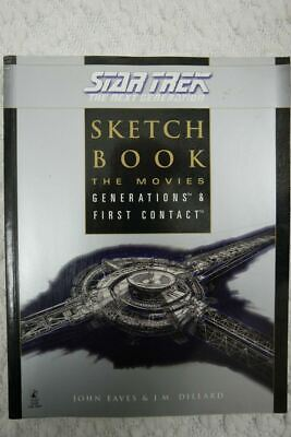 AU89.99 • Buy STAR TREK THE NEXT GENERATION SKETCH BOOK By J.M Dillard Paperback Book 1998 GUC