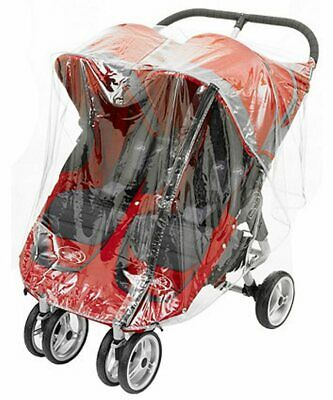Rain Cover To Fit Baby Jogger City Mini Double With Zip Made In Uk Quality Pvc • 19.50£