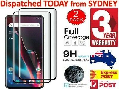 AU6.17 • Buy OnePlus 7 7 Pro 6 6T 5 5T 3 3T Screen Protector Full Coverage Tempered Glass
