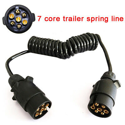 3M Trailer Light Board Extension Cable Lead 7 Pin Plug Caravn Socket Towing Wire • 9.89£