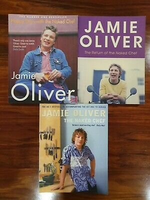AU34.99 • Buy 3x Jamie Oliver Softcover Cookbook - The Naked Chef