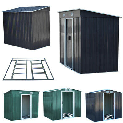5 Size Metal Garden Shed Outdoor Patio Storage House Tool Sheds With Free Base • 269.95£