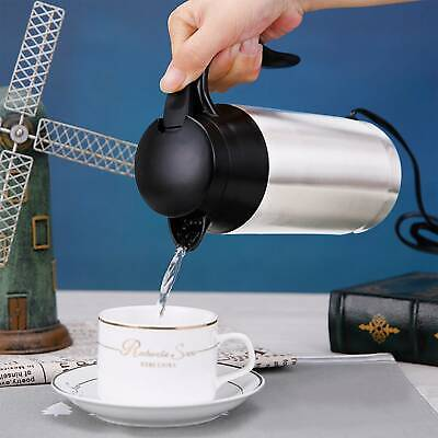 £19.99 • Buy 12V 750ml Stainless Steel Electric In-Car Kettle Car Travel Water Heating New UK