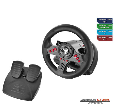 Xbox One Steering Wheel And Pedal Set Gaming Racing Driving Simulator PS4 PS3 UK • 77.95£