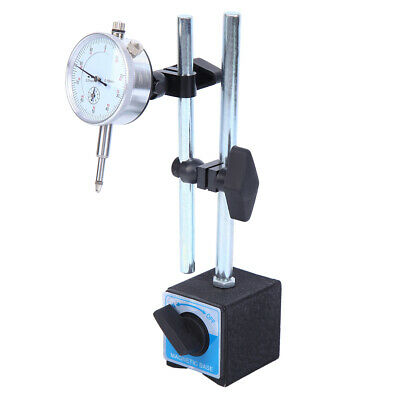 £18.89 • Buy 0-10mm Metric Dti Dial Indicator Test Gauge Stand& Magnetic Base Precision Clock