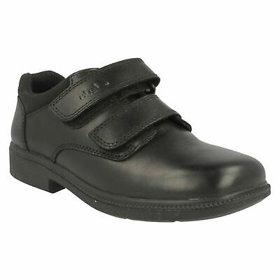 Boys Clarks Deaton Hook & Loop Infant Casual Classic Formal School Shoes Size • 25£