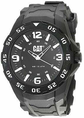 CAT - Men's Quartz Watch With Black Dial Analogue Display And Black Rubber Strap • 59.99£