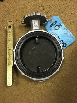 "$75 • Buy Ultraflo 6"" Butterfly Valve Series 780 Aluminum Body W/ Handle Unused"
