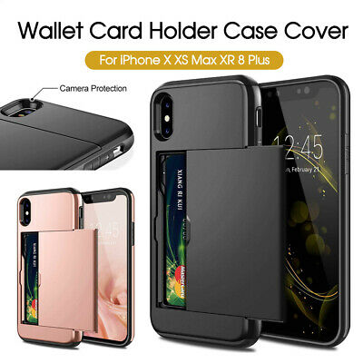 AU7.20 • Buy MC Wallet Card Holder Case Cover For IPhone X XS Max XR IPhone 8 8 Plus