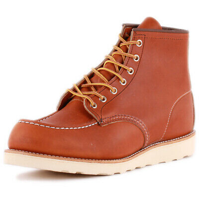 Red Wing 6-inch Moc Toe Mens Tan Leather Classic Boots • 269£