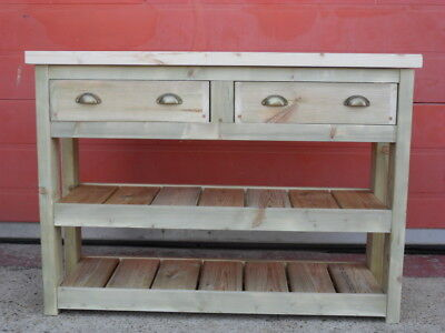 Unpainted Kitchen Island/breakfast Bar.Handbuilt Solid Pine. Can Be Made To Size • 510£
