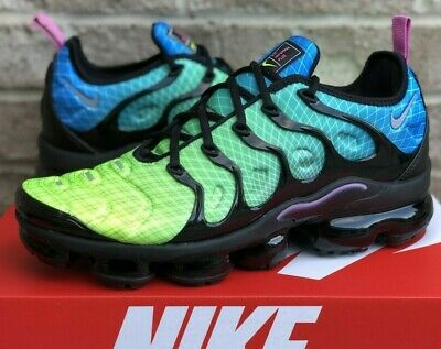 $124.99 • Buy Nike Air Vapormax Plus Running Shoes 924453-302 New Mens Green / Blue Multicolor