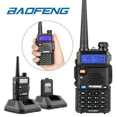 Baofeng UV-5R Walkie Talkie UHF VHF Dual Band Two-Way Radio With Headsets UK • 18.88£