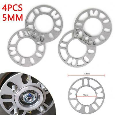 4 X 5mm Universal Alloy Wheel Spacers Shims Spacer 4 And 5 Stud Fit UK • 7.99£