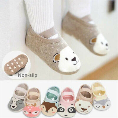 Infant Cute Cartoon Non-slip Cotton Toddler Floor Socks Kids Shoes Slipper Socks • 3.02£