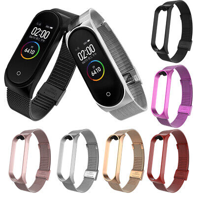 $4.49 • Buy For Xiaomi Mi Band 3 4 Stainless Steel Milanese Bracelet Wrist Strap Watch Band