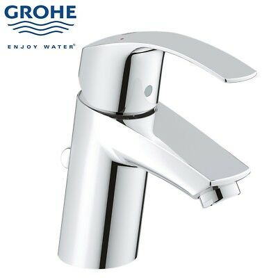 Grohe Eurosmart New Modern Mono Basin Bath Bathroom Mixer Tap Pop Up Waste Small • 65£