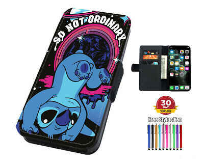 Lilo And Stitch Ohana Flip Leather Phone Case For IPhone Samsung And Huawei  • 4.95£