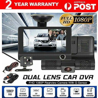 AU49.98 • Buy 4  LCD 1080P FHD Car DVR 3 Lens Camera Revising Recorder Dash Cams Night Vision